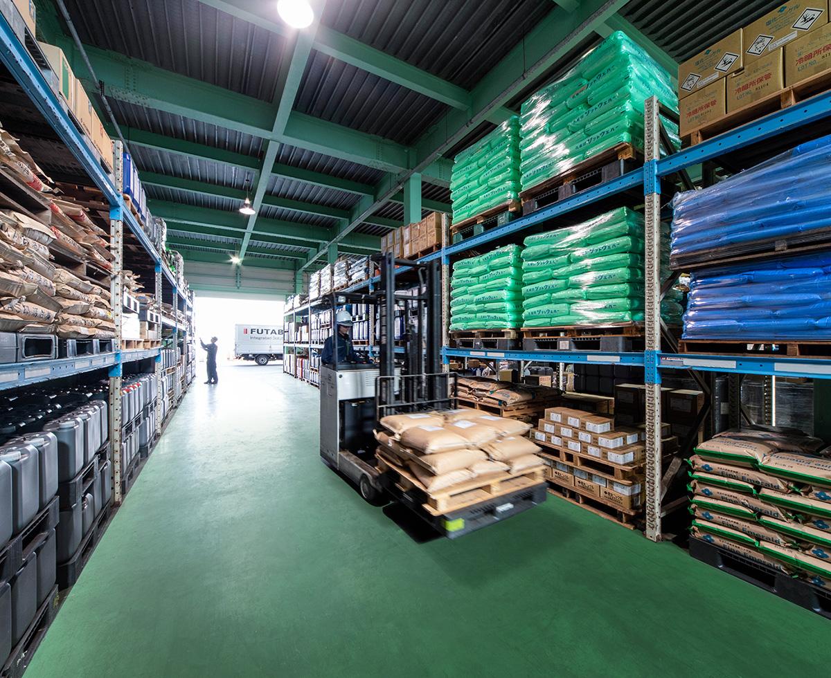 業界最大規模の倉庫&配送能力 イメージ1